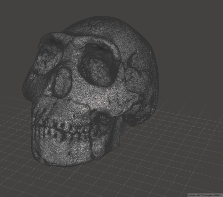 { I reduced the polygons to around 500,000. No visible detail lost with the print, hopefully. }