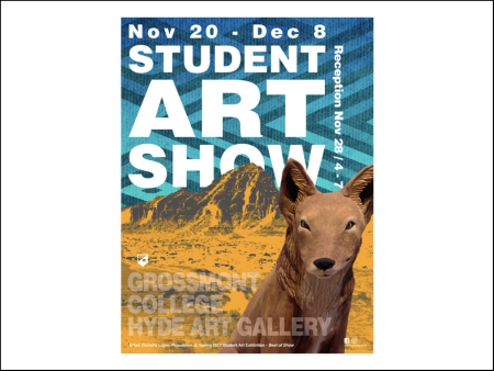 { Hyping the campus art show. }