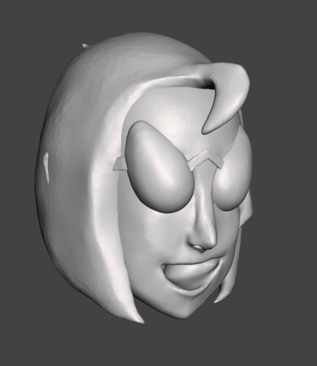 { First completed version of the head. }