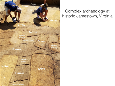 { Archaeology from Historic Jamestowne. }